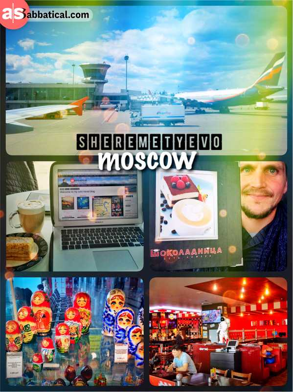 Sheremetyevo Moscow - working at the Russian airport on my way from Europe to Asia