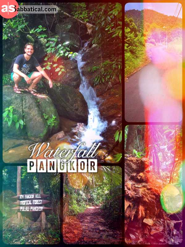 Pangkor Waterfall - in the green heart of the island inside a thick and overgrown rain forest