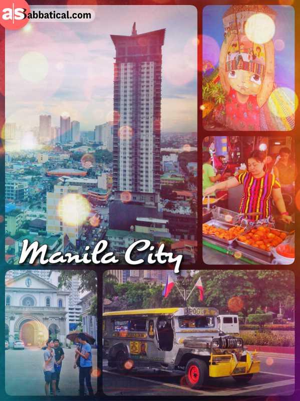 Manila City - the heart of the Metro Manila area, usually crossed in a Jeeepney