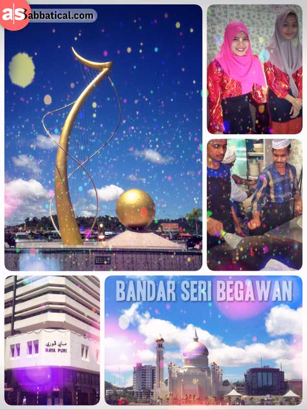 Bandar Seri Begawan - capital of the sultanate Negara Brunei Darussalam on Borneo