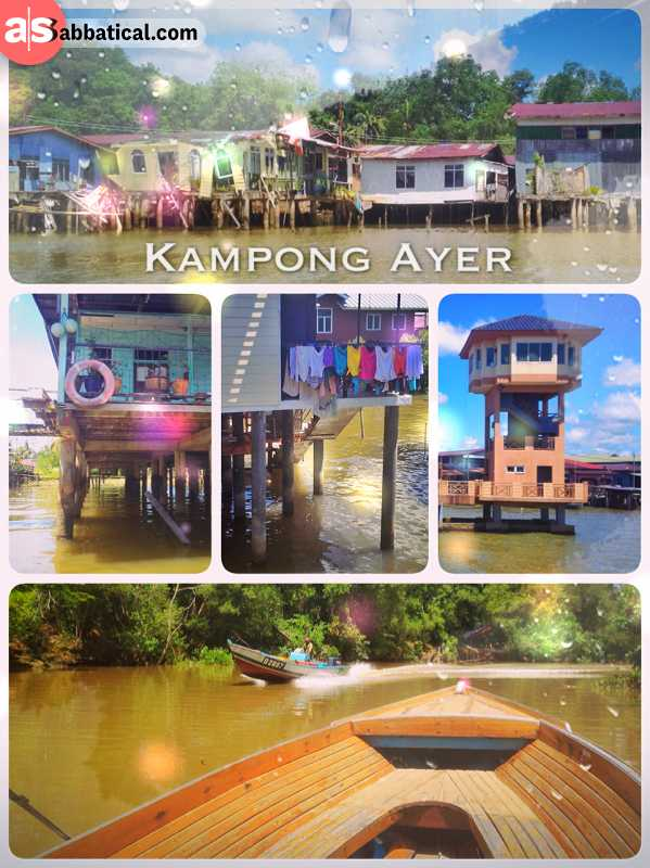 Kampong Ayer - floating on a wooden boat through the Venice of the East