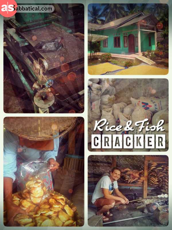 Fish & Rice Crackers - visiting families in local villages and learning all about the production