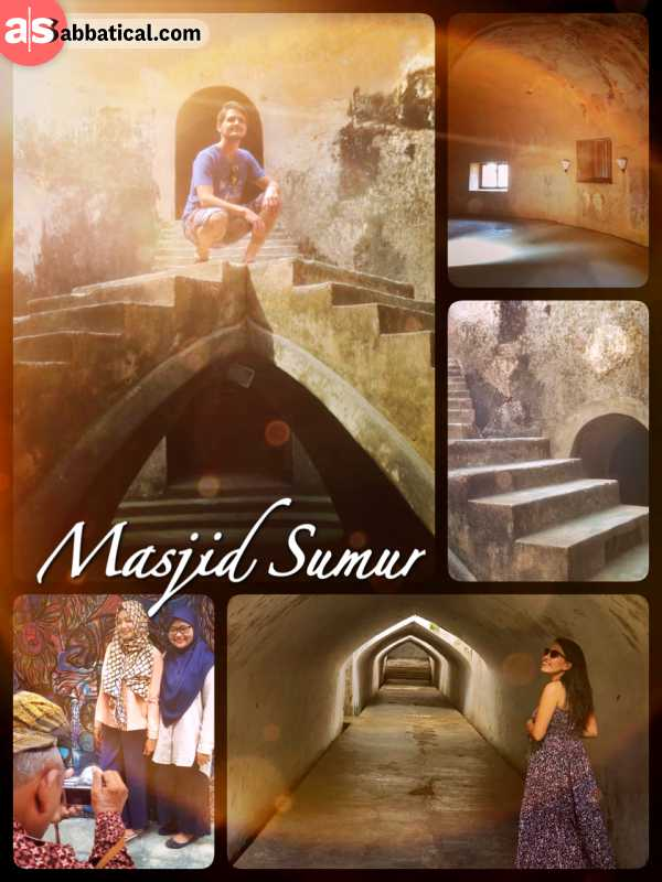 Masjid Sumur - visiting the unique underground mosque near the water palace in Yogyakarta