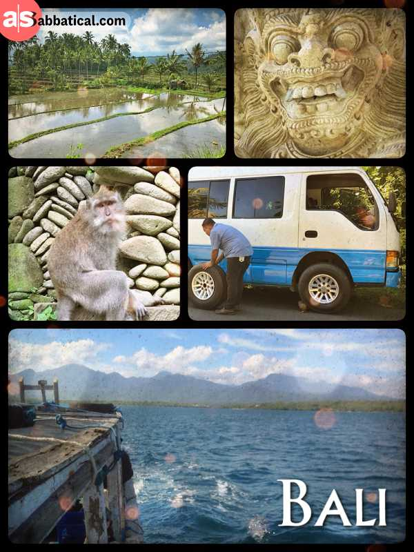Bali - crossing the exceptionally beautiful and only Hindu island of Indonesia