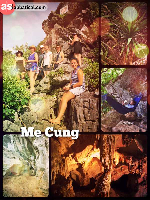 Me Cung Cave - exploring the small cave on the small island within the Ha Long Bay