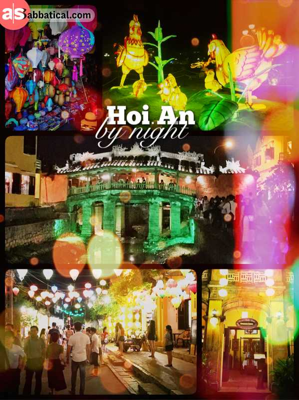 Hoi An by night - following the masses and gazing at colourfully illuminated lanterns