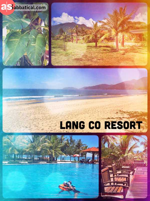 Lang Co Resort - a surprising paradise with pool and beach along the national road 1