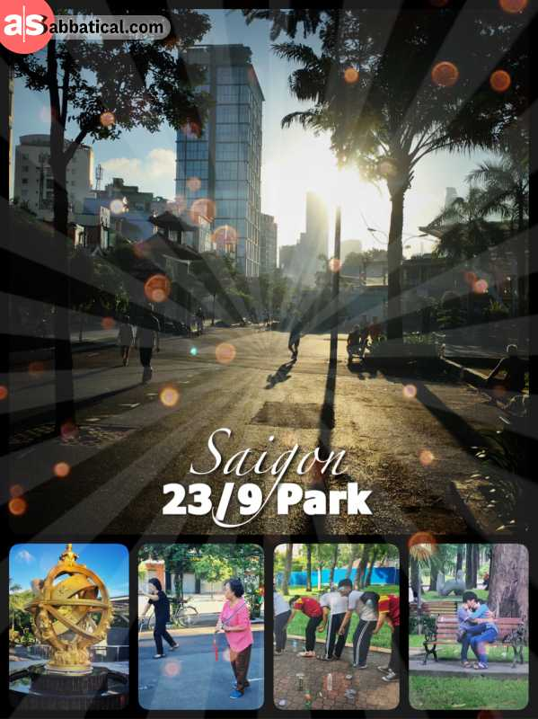 23/9 Park Saigon - enjoy the first sunbeams early in the morning with tai chi or badminton