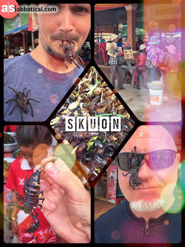 Spidertown Skuon - eating tarantula, scorpion, water bugs and other gross animals