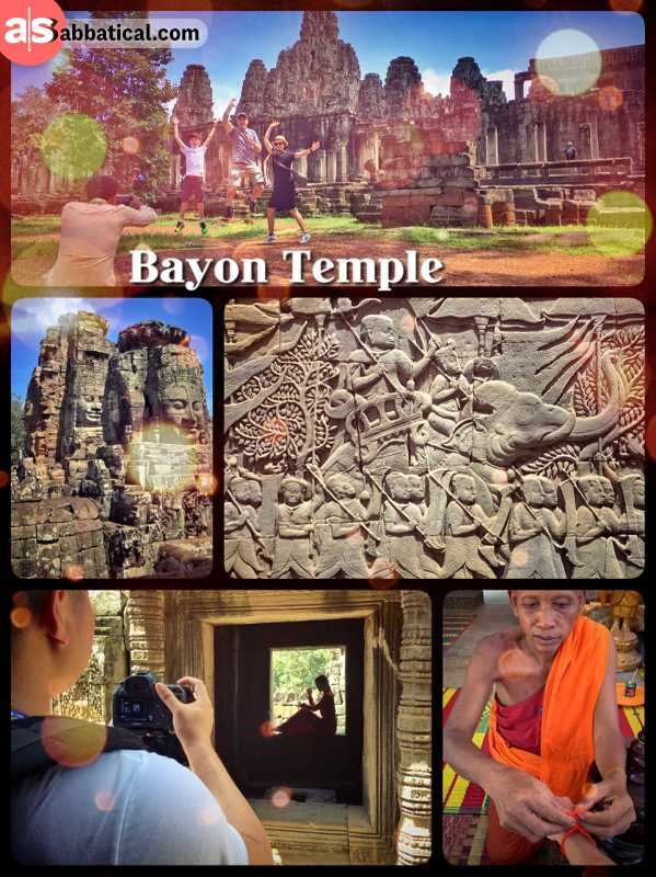 Bayon Temple - one of the most picturesque places surrounding Angkor Wat