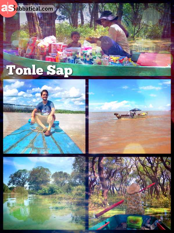 Tonle Sap - floating on the largest lake of Cambodia in a small boat with a guide