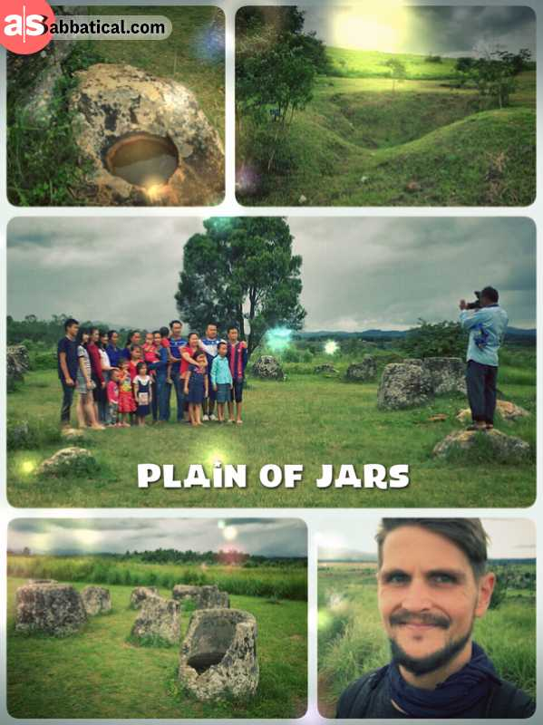 Plain of Jars - walking through a field packed with mysterious stone objects