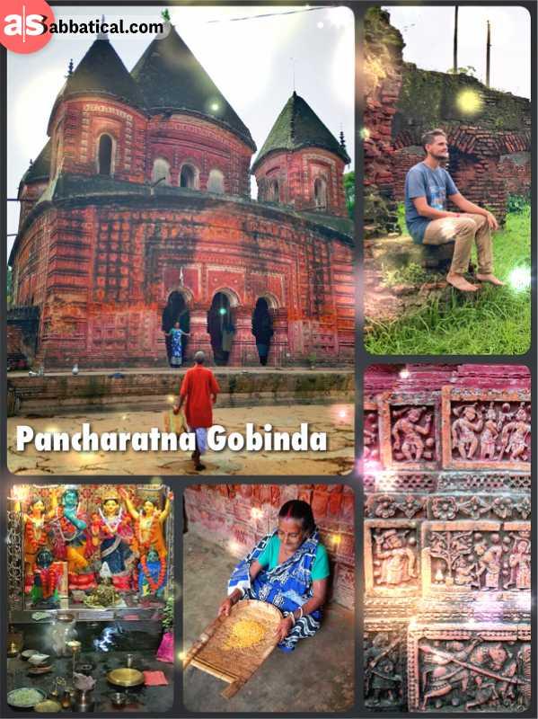 Pancharatna Gobinda - the raspberry-like Hindu temple dedicated to Lord Krishna