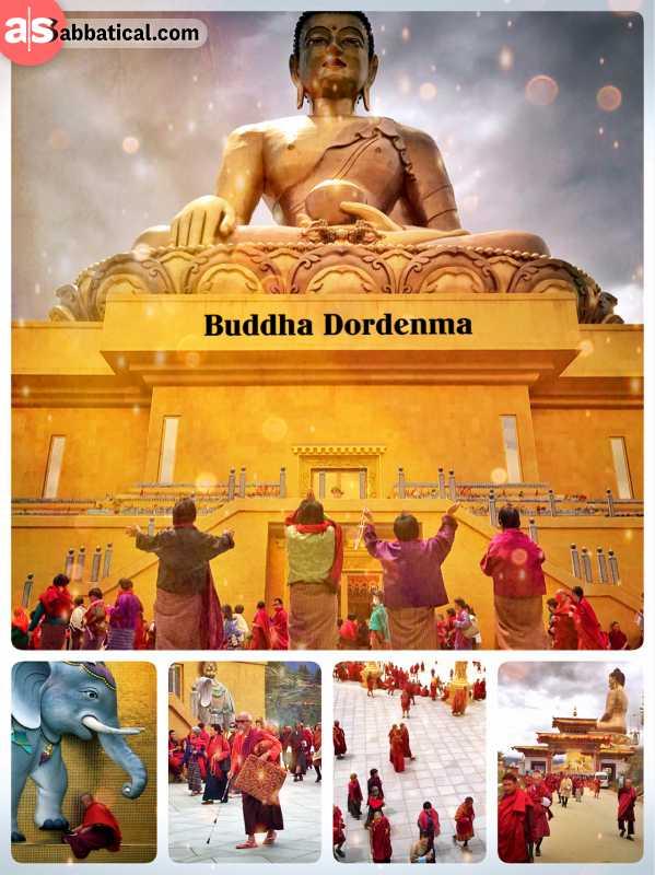 Buddha Dordenma - world's largest bronze Buddha housing over 100,000 mini Buddhas