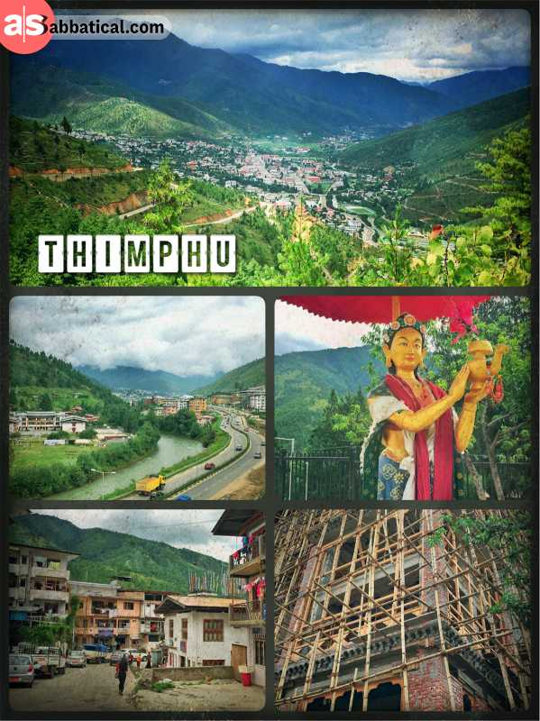 Thimphu - largest city with only 100,000 people and young capital of Bhutan