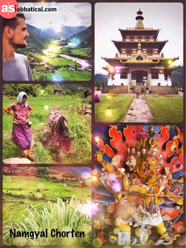 Namgyal Chorten - a pagoda to bring world peace by the Queen Mother of Bhutan
