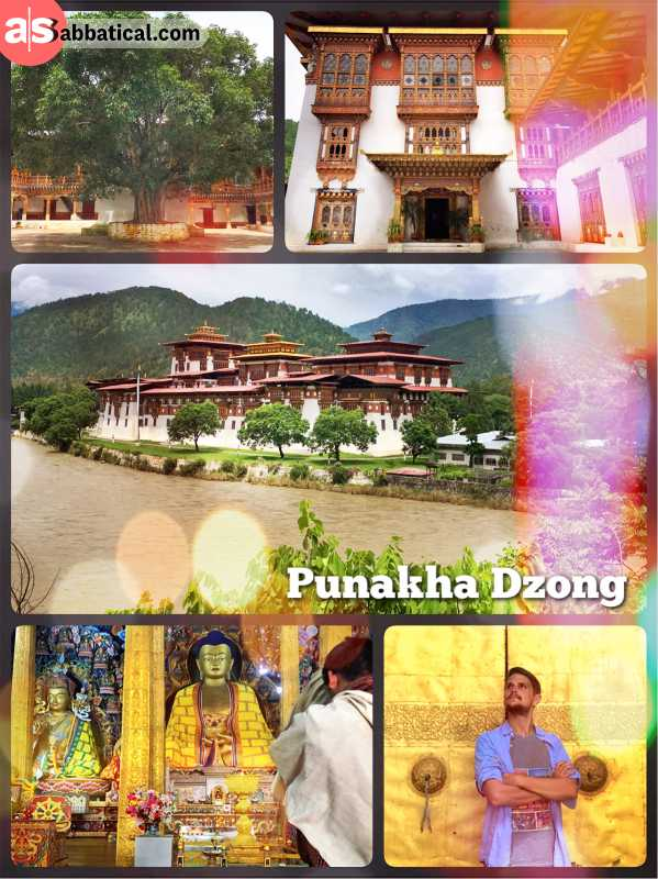 Punakha Dzong - Bhutan's 2nd oldest dzong and former seat of the Government