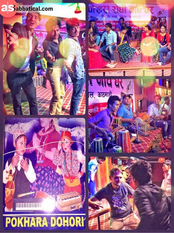 Pokhara Dohori - singing and dancing with a Nepalese band in Kathmandu