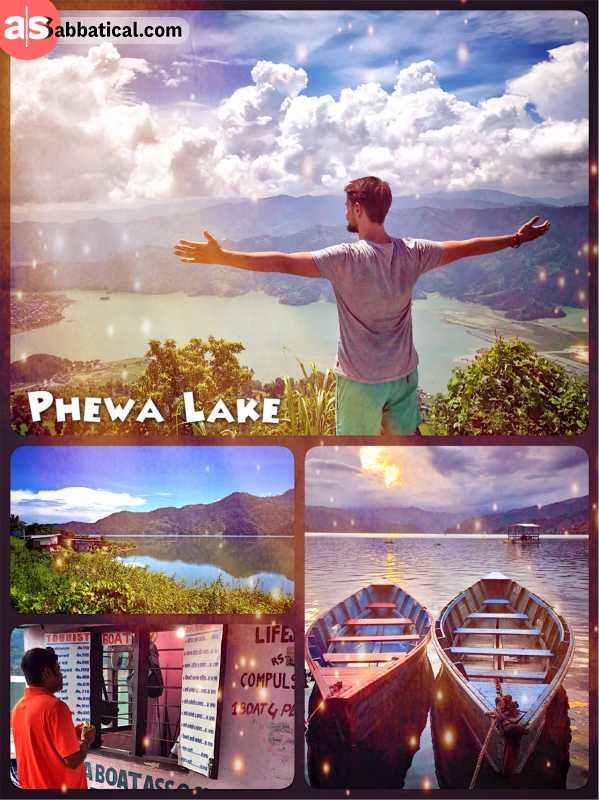 Phewa Lake - Nepal's second largest fresh water lake that is bordering Pokhara