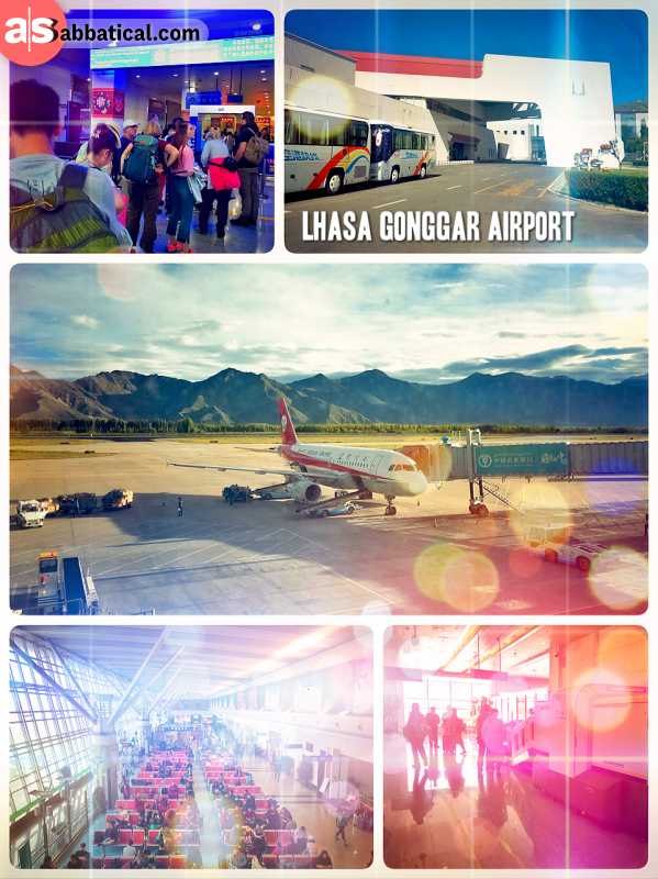 Lhasa Gonggar Airport - arriving in Tibet in a very modern airport, about one hour outside Lhasa