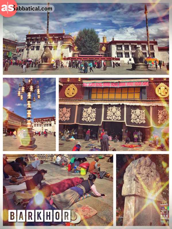 Barkhor - where Tibetans are walking in circles around the most sacred temple