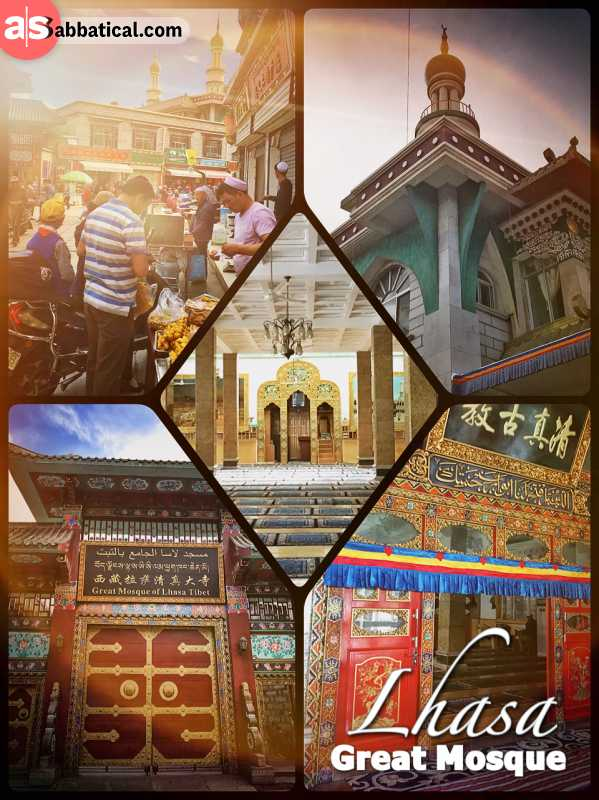 Lhasa Great Mosque - randomly stumbling upon a mosque on my stroll through Lhasa