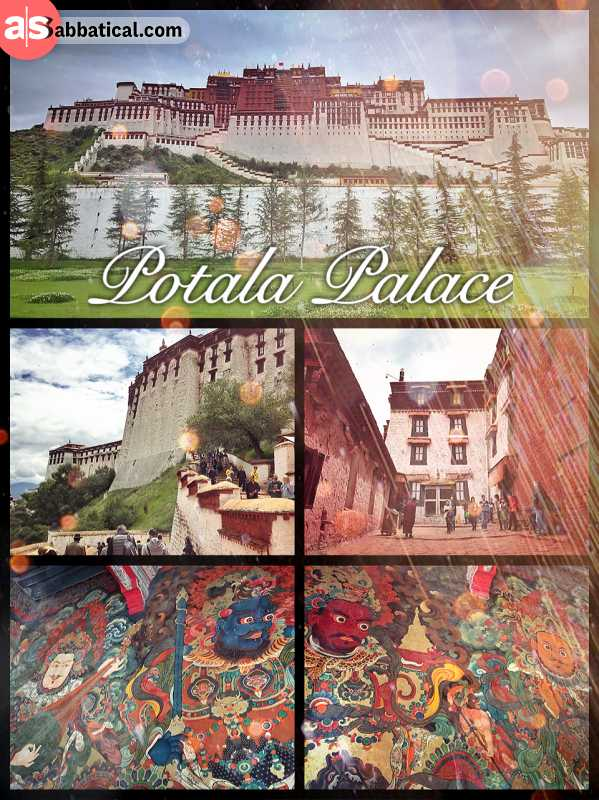 Potala Palace - former Tibetan government and residence of the Dalai Lama