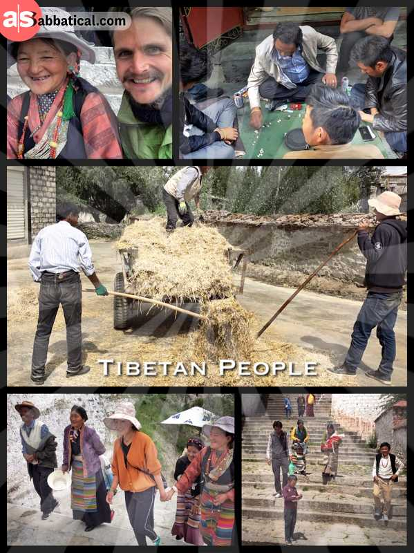 Tibetan People - adapted to high altitude, laughing a lot and mostly Buddhist