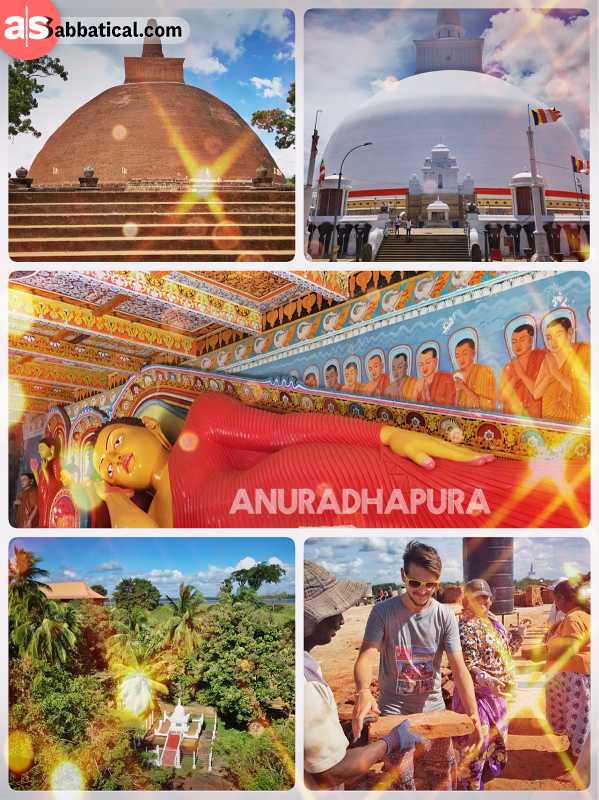 Anuradhapura - ancient capital of the Sri Lankan kingdom with many ruins and relics