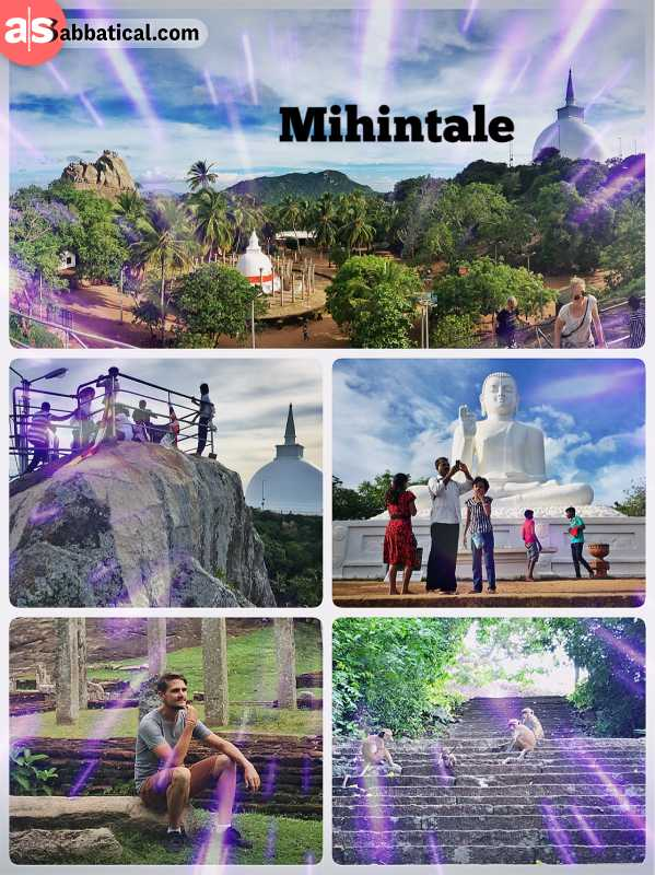 Mihintale - the birth place of Buddhism in Sri Lanka on a mountain peak