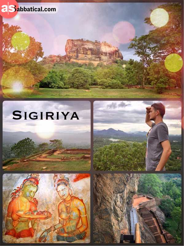Sigiriya - ruins of an ancient royal capital city on a granite Lion's rock