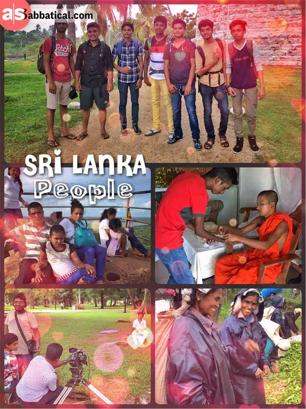 Sri Lankan People - smiley, friendly, mostly Buddhist and with a long monarch history