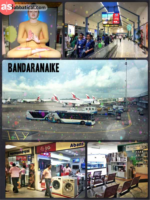 Bandaranaike Airport - finally arriving in Sri Lanka, after a missed flight in Singapore