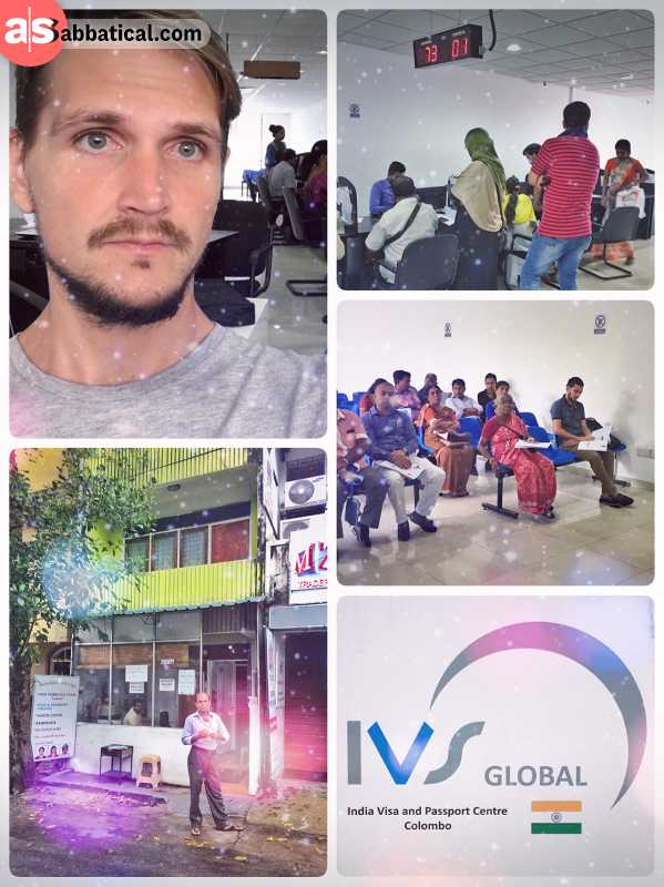 Indian Visa Center Colombo - queueing for every single step in the long visa application process