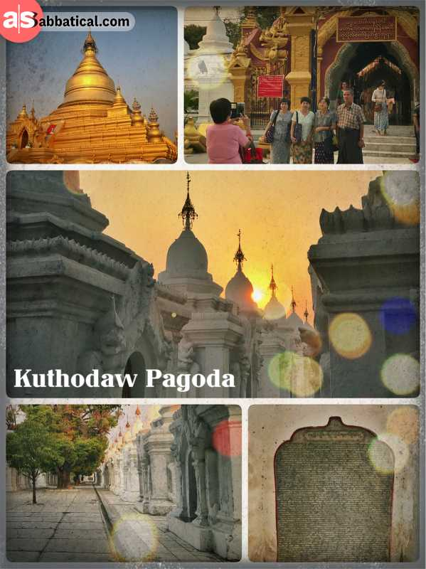 Kuthodaw Pagoda - Buddhist inscriptions in the world's largest book on 700 marble stones