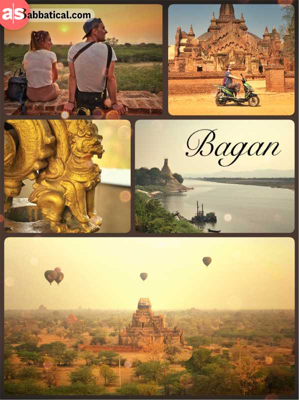 Bagan - abandoned capital with once 10,000 Buddhist temples and pagodas