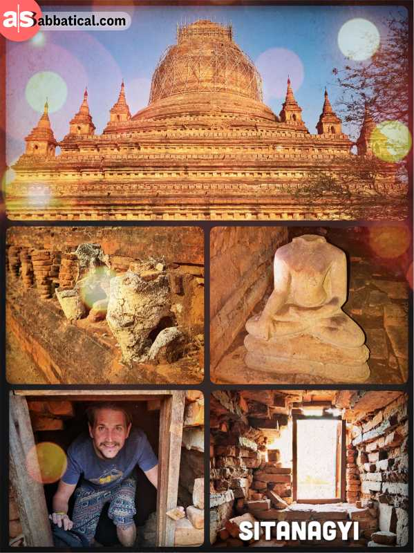 Sitanagyi Hpaya Pagoda Temple - climbing into an ancient temple and feeling like Indiana Jones in Bagan