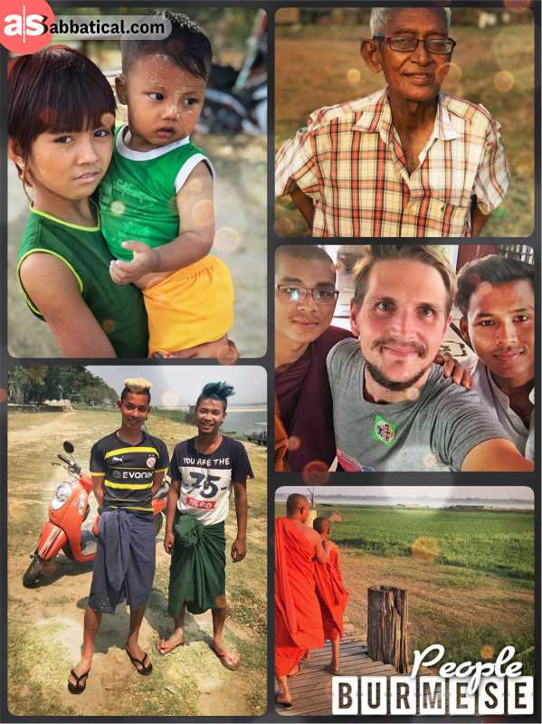 Burmese People - a happy folk of Buddhists, not yet spoiled by global mass tourism