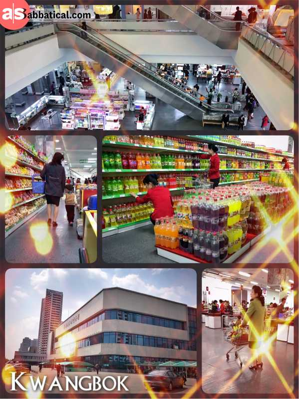 Kwangbok Department Store - shopping for food, electronics, cosmetics and clothes in North Korea?