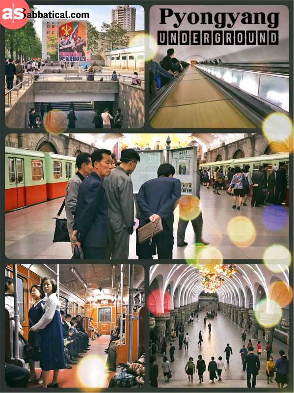 Pyongyang Underground - public transportation with beautiful metro stations and old German trains & Pyongyang Underground | aSabbatical