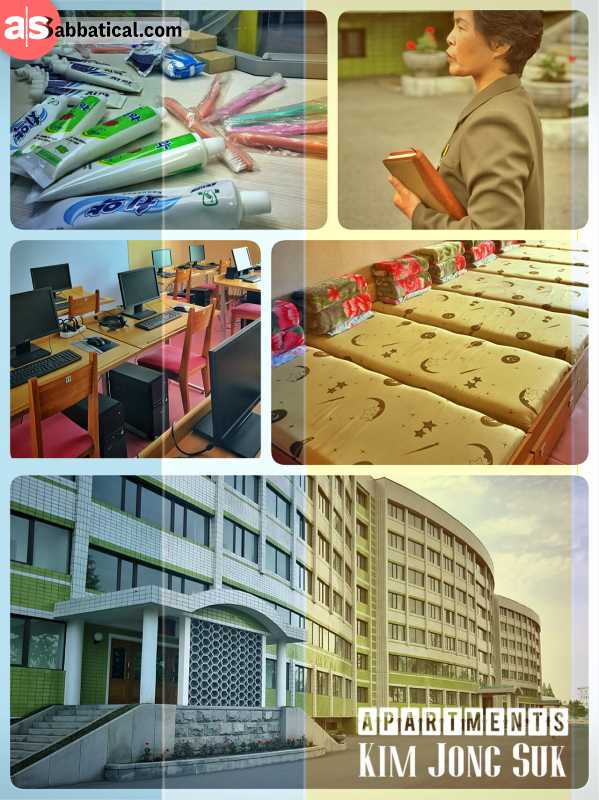 Kim Jong Suk Apartments - basic facilities for hard-working factory employees of the textile mill