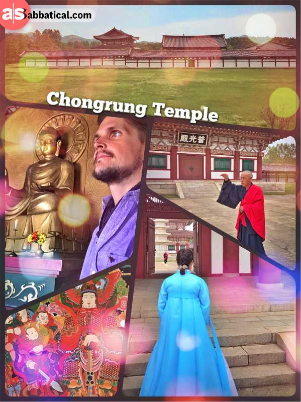 Chongrung Temple - a not very authentic Buddhist site in a mostly irreligious North Korea