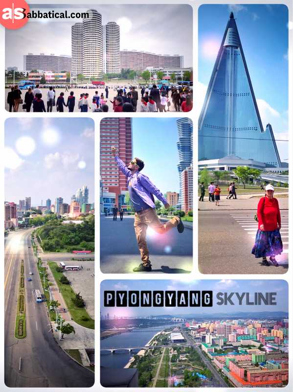 Pyongyang Skyline - impressive and colourful buildings are scattered all over North Korea's capital