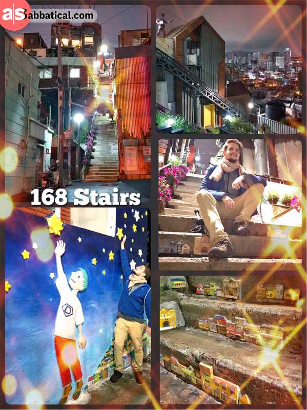168 Stairs Busan - outdoor museum with many artworks, wall-paintings and sculptures in Busan