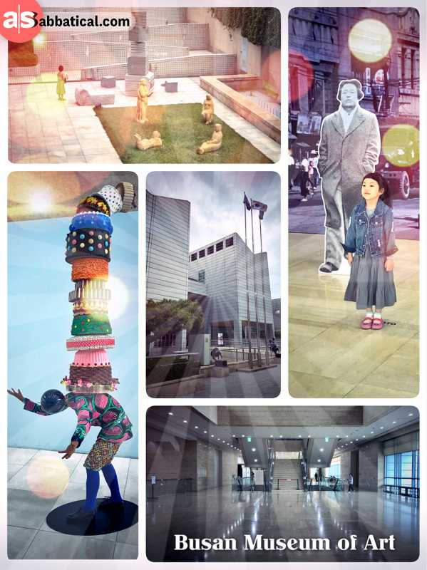 Busan Museum of Art - impressive museum with huge rooms for not so much art and creativity