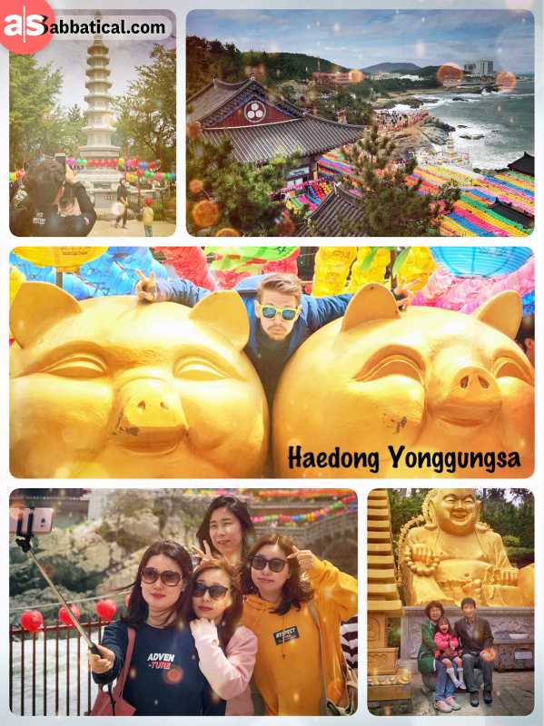 Haedong Yonggungsa - large Buddhist temple complex with a long history directly at the Ocean