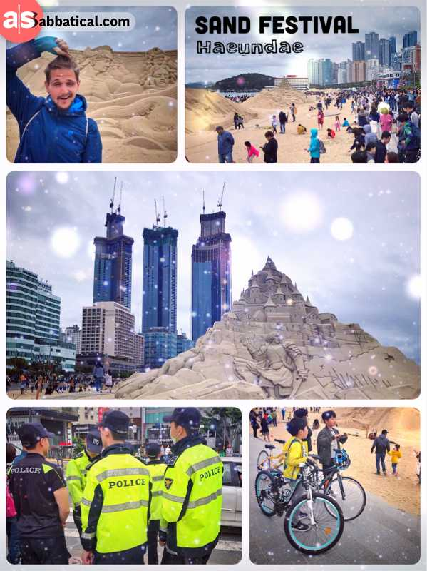 Haeundae Sand Festival - a crowded weekend producing a series of creative masterpieces of sand