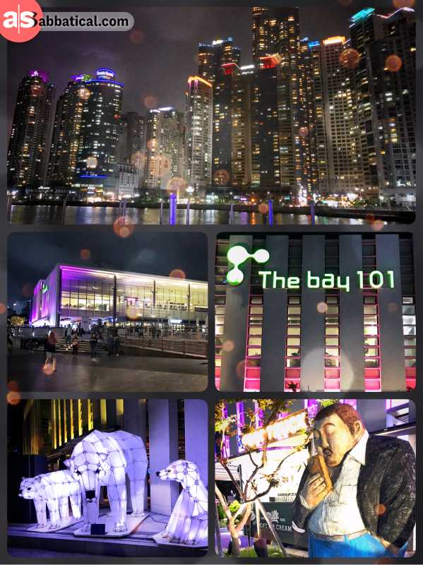 The Bay 101 - great place to spend your summer evening at the beach, next to Busan