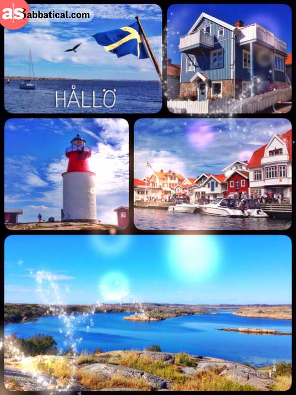 Hållö - exploring the small island and then swimming in the cold sea water