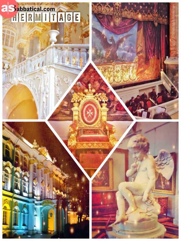 St Petersburg Hermitage - former residence of the Russian emperors turned into a museum